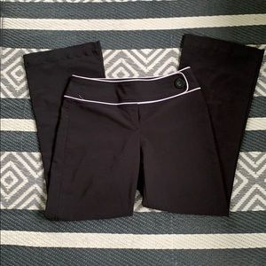 Tracey Evens black and white dress pants